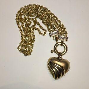 Jewelry - ❤️ 14K Yellow Gold Heart Diamond Charm Bracelet ❤️